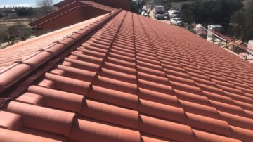 Cubierta de teja: cerámica y de hormigón